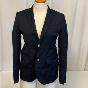 Boys' Ludlow two-button blazer in navy wool K6325